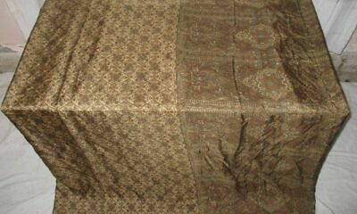 SILK BLEND Antique Vintage Sari Saree Fabric Material 4yd Z20 250 Coffee #ABCF4