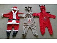 Santa, Rudolf, Little Devil baby costumes 3-6 months