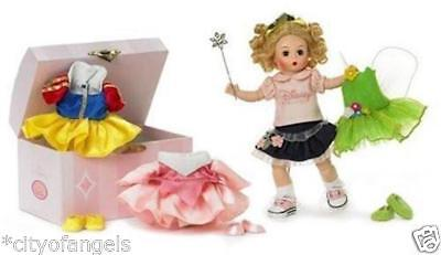 Madame Alexander Disney Sleeping Beauty Tinkerbell Snow White TRUNK 4 OUTFITS
