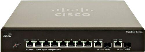 Cisco SG300-10MP 10 Port Gigabit Max-PoE Switch (Refurbished)
