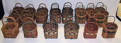 "LOT of 25 NEW Wicker Craft Baskets 3""x3"" - 5 Styles - Liquidating Craft Business"