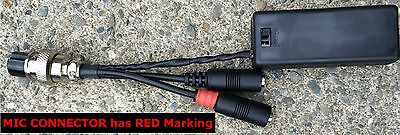 W2eny Mic/ptt Adapter Fits Yamaha Cm500 To Your Kenwood T...