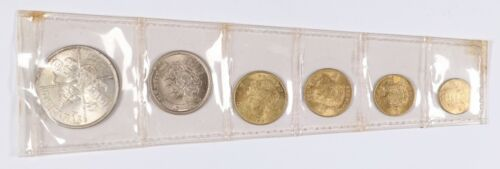 Set of 6 Thai Coin Set with 1963 20 Baht
