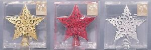 FILIGREE-STAR-CHRISTMAS-TREE-TOPPER-GOLD-SILVER-RED-GLITTER-FESTIVE-DECORATION