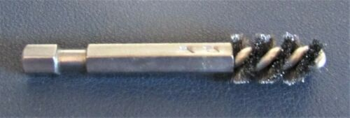 """Hosel Honing Wire Brush Drill Bit for Irons (.355 to .370 Bore) - 1/4"""" Hex Shank"""
