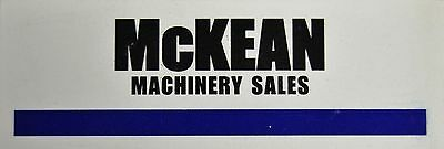 McKEAN MACHINERY SALES