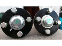 trailer wheel hubs and stubs sealed units & water proof 950kg high speed brand new never used