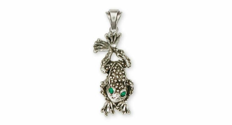 Toad Pendant Jewelry Sterling Silver Handmade Toad  Pendant TD1-XP