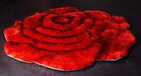 Brand new gorgeous 3d red rose rug £20