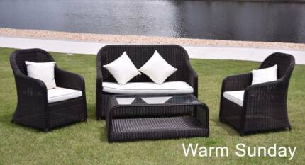 4 Piece Dark Brown Outdoor Setting   BUY DIRECT FROM IMPORTER Part 87