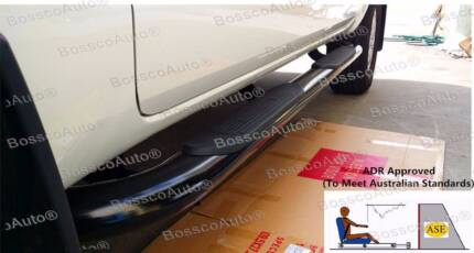 FORD RANGER PX MODEL 2012 - 2015 4-INCH OVAL BLACK SIDE STEP#9083 Prestons Liverpool Area Preview
