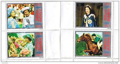 4 rare 1977 Queen Silver Jubilee Stamps Unused.