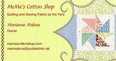 MeMa's Cotton Fabric Shop