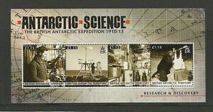 BRITISH-ANTARCTIC-TERRITORY-2011-EXPEDITION-1910-13-4V-SHEET-MNH