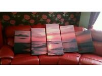 5 piece canvas set