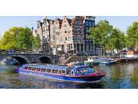 AMSTERDAM 75min CANAL CRUISE MARCH 18' x2 PEOPLE ATTRACTIONS SIGHT ACTIVITY BOAT HOLIDAY TICKETS