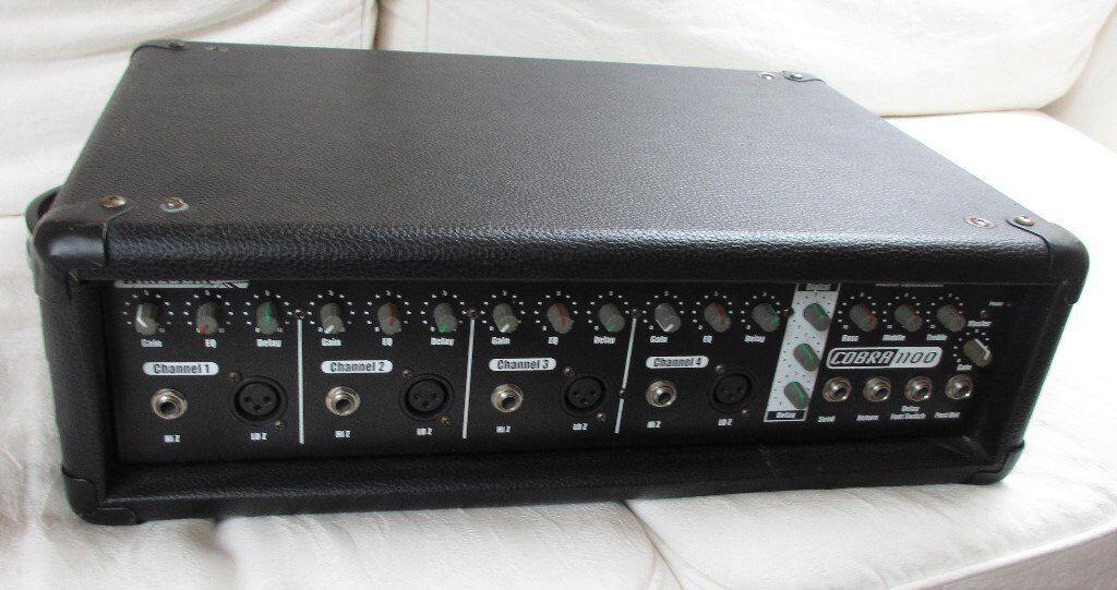 Carlsbro 125 watt 4 channel 125watt PA Mixer Amplifier