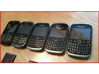 5 x BLACKBERRY MOBILE PHONES