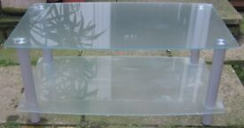 Large Glass Unit TV Stand/Table