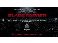4 x Bladerunner Secret Cinema tickets (Sunday 15th April) - £160 for 4 (Face value: £270)
