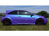 Renault Megane 2 for sale, Custom flip paint ,Full body kit, full service history 12mths MOT.