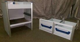 Sortimo Van racking, Van shelving, Underfloor drawers,