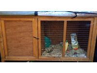Rabbit hutch worth £150 with thermal cover and accessories sold rabbit separate