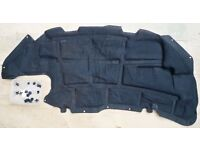 Peugeot 206 under bonnet sound proofing insulation mat / pad with all plastic stud fastening clips.
