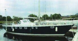 Hartley Fijian 1973 44ft Cutter rigged yacht. Documented ex Ocean Racer