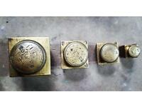Antique vintage brass weights