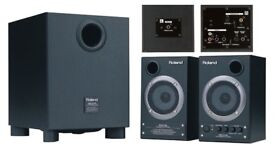 Roland DM2100 Studio Monitor Speakers with Subwoofer