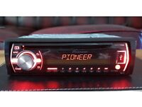 CAR HEAD UNIT PIONEER X3500UI MP3 CD PLAYER WITH MITRAX USB AUX 4x 50 AMPLIFIER AMP STEREO RADIO