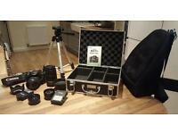 Canon EOS 500D/Rebel T1i + 2 Lenses bundle