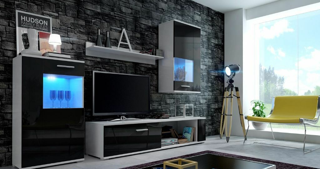Wall Unit Foxy Free Led Tv Stand Living Room