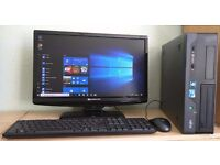 """Fujitsu Windows 10 Pro Slim PC Computer/WIFI/2GB RAM/320GB/20""""WidescreenMonitor"""