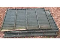 3x 4 ft tall x 6ft foot fence panel in need of slight repair