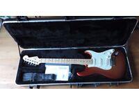 Fender American Deluxe Stratocaster Sunset Mist Metallic Finish 2012 w/ original SKB case