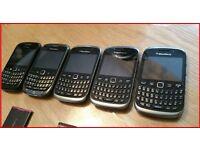 5 x BLACKBERRY MOBILE PHONES