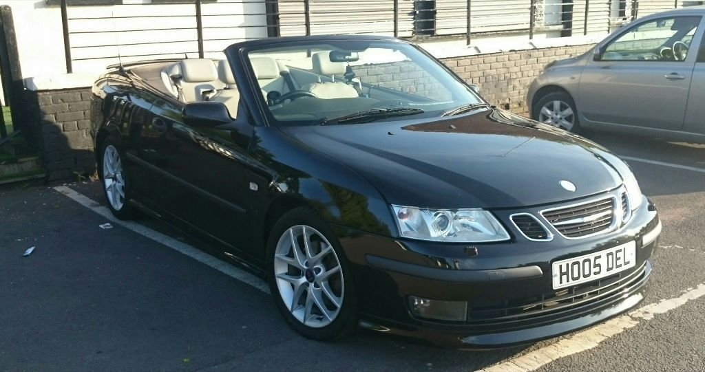 black saab 9 3 convertible aero 2ltr turbo 2005 price reduced for quick sale in paisley. Black Bedroom Furniture Sets. Home Design Ideas