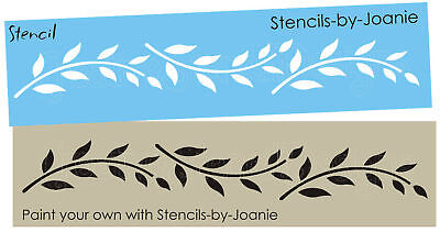 Willow Border - Joanie Stencil Primitive Simple Leaf Border Willow Branch Leaves Cottage signs