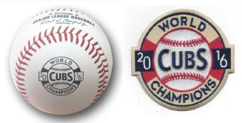 2016 World Series Champion Baseball Chicago Cubs in Display Case WSBB16CHMP-R