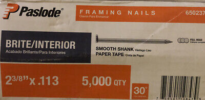 Newpaslode 2 38 5000 Round Drive Smooth Shank Full Head Framing Nails Nail Gun