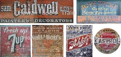 O Scale Ghost Decals Set # 17 Building, Fences, Walls, Buildings