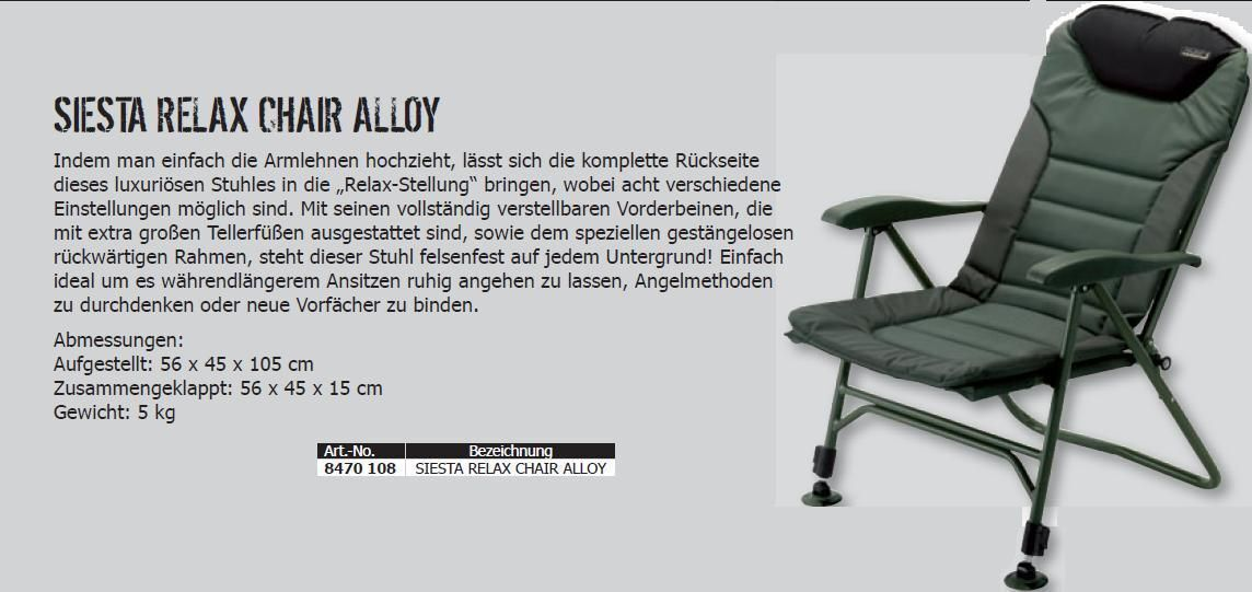 MAD Morpheus Chair Alloy DAM Karpfen Camping  Karpfenstuhl carpchair