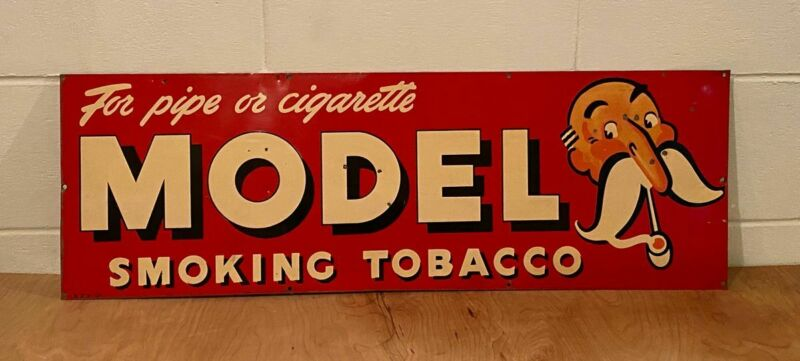 Model Brand Smoking Tobacco Metal Sign