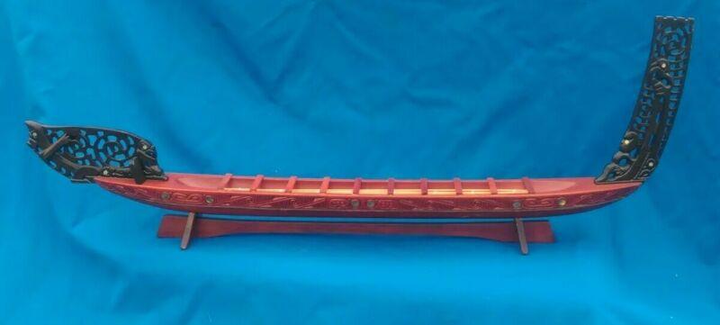 Maori Waka War Canoe Model