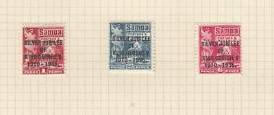 SAMOA (MK7109) # 163-165 VF-MH 1935 KING GEORGE V SILVER JUBILEE SET