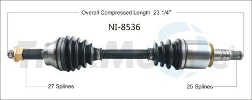 CV Axle Shaft fits 2007-2013 Infiniti G37 G25 G35  TRAKMOTIVE