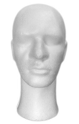 Mn-256 1 Pc Male Styrofoam Mannequin Head With Long Neck