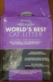 *FREE * Worlds Best Cat Litter / 15kg ( bigger bag has been opened) / Lavender Scented
